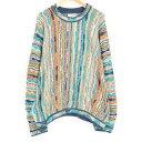 クージー COOGI 総柄 コットンニットセーター オーストラリア製 メンズXL /wah1469 【中古】 【170912】