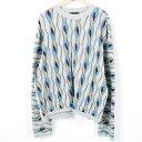 クージー COOGI 総柄 コットンニットセーター オーストラリア製 メンズXXL /wah5622 【中古】 【170914】