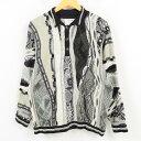 90年代 クージー COOGI 総柄 襟付き コットンニットセーター オーストラリア製 メンズL /wak6113 【中古】 【171121】