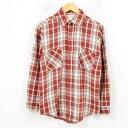 70年代 ジェイシーペニー J.C.Penney BIG MAC ビッグマック タータンチェック 長袖 ヘビーネルシャツ メンズS ヴィンテージ /wau7514 ..