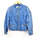 80年代 ルイスレザー Lewis Leathers ロンジャン シングルライダースジャケット 英国製 38 レディースM ヴィンテージ /wbb3883 【中古】 【190110】