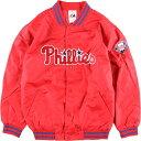 90年代 マジェスティック Majestic MLB Philadelphia Phillies フィラデルフィア フィリーズ ナイロンスタジャン アワードジャケット レディースM ヴィンテージ /eaa000328 【中古】 【200117】【PD203-3】【【SS2006】】