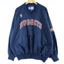 ビッグサイズ 90年代 スターター Starter NBA DENVER NUGGETS デンバーナゲッツ Vネック ナイロンプルオーバー メンズXXXL ヴィンテージ /eaa025395 【中古】 【200430】