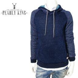 【50%OFF】PEARLY KING (パーリーキング) スウェットパーカー [メンズ] ECLIPSE 【NVY/S・M・Lサイズ】プルオーバー ニットパーカー フーディー ツイストネック UK10P03Dec16【あす楽】