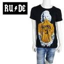 【ネコポス対応】RUDE (ルード) 半袖 Tシャツ メンズ RM-GIANTS 【BLK/S M L XL】 クルーネック マリリン モンロー ジャイアンツ GIANTS イタリア製 MLB ショートスリーブ【店頭受取対応商品】【あす楽】