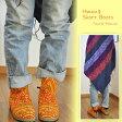 贅沢刺繍使い♪モン族 刺繍 ショートブーツ 靴 編みあげ ハンドメイド【エスニック アジアン ヒッピー ボヘミアン フォークロア】【RCP】
