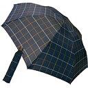 【送料無料】ケンショウ・アベ 先染格子ミニ折りたたみ傘 ネイビー【代引不可】【ギフト館】