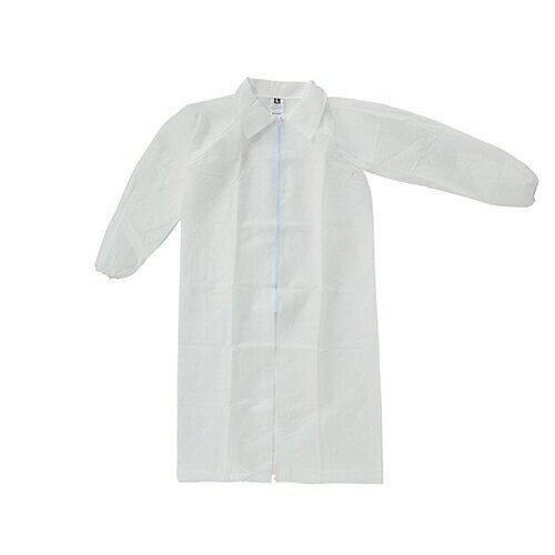【ポイント5倍★26日20:00〜30日23:59】川西工業 不織布使いきり白衣 Lサイズ 1着
