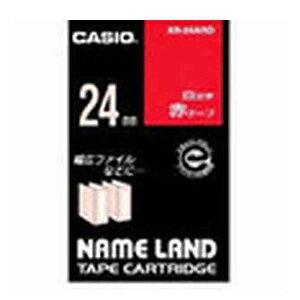 ★まとめ買い★ カシオ ネームランドテープ24mm 赤/白文字 XR-24ARD ×10個【返品・交換・キャンセル】【イージャパンモール】
