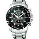 ショッピング電波時計 【送料無料】シチズン プロマスター メンズ電波腕時計 ブラック/レッド PMP56−3051【代引不可】【ギフト館】