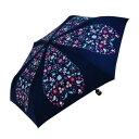 ショッピング傘 【送料無料】Mauve drops 折りたたみ傘 ラメ入り 50cm mini アニグラム FM-2012 ネイビー【生活雑貨館】