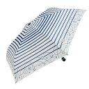 ショッピング折りたたみ傘 【送料無料】Fair mode 晴雨兼用 折りたたみ傘 50cm mini マリンボーダー SM-2027 ホワイト【生活雑貨館】
