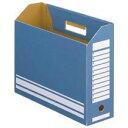 TANOSEE ボックスファイル A4ヨコ 背幅100mm ブルー 1セット(50冊:10冊×5パック)
