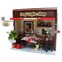 手作りドールハウスキット 街角のお店キット リーフコーヒーショップ 8787