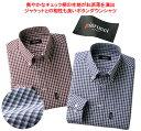 ショッピングギンガムチェック 【ボタンダウンシャツ】ピエルッチ 綿100%カジュアルシャツ同サイズ2色組 / Pierucci