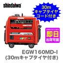 【数量限定】〈新ダイワ〉発電機 兼用 エンジン溶接機 EGW160M-I(30mキャプタイヤ付き)【代引不可 車上引き渡し品】