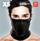 【サイクルウェア送料無料】Naroo Mask X5 スポーツ用フェイスマスク 日焼け予防 UVカット 暴風 防寒 自転車用 スギ・ヒノキ花粉症 紫外線対策 自転車ウェア テニス スキー スノーボード ウエアアクセサリー【即納】