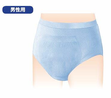 【ケース販売】男性用失禁パンツ【日本製紙クレシア】ポイズ 肌着ごこちパンツ 男性用2回分 Lサイズ 8枚(1袋)×8袋