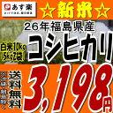 【新米】【あす楽】【送料無料】26年福島県産コシヒカリ白米10kg(5kg×2)【こしひかり】【米】【コメ】