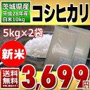 !9月限定新米特価!【平成28年】茨城県産 白米 コシヒカリ 10kg(5kg×2)【通常発送】【送料無料】