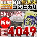 【BG無洗米】28年福島県産 白米 コシヒカリ 10kg(5kg×2) 【送料無料】