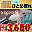 【平成28年】福島県産 白米 ひとめぼれ 10kg(5kg×2)【あす楽_土曜営業】【送料無料】