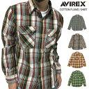 AVIREX(アヴィレックス) アビレックス コットン フランネル シャツ チェック ネルシャツ ワークシャツ レッド マスタード グレー 6145212 通販 通信販売 【楽ギフ_包装】 条件付き送料無料 代引き、日時指定がある場合は送料別
