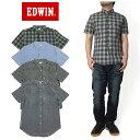 EDWIN(エドウィン) 半袖 チェック ワークシャツ
