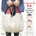 ショッピングGW Permanent Age(パーマネントエイジ) レザーハンドルリネントートバッグ「レッド/キャラメル/チョコ」麻 革(GWI-1202)