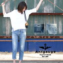【Antgauge アントゲージ】 ボーイフレンドダメージジーンズ C1304/レディース/パンツ/デニム/ダメージ/ヴィンテージ/テーパード/ペイント/カジュアル