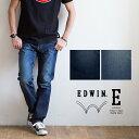 【EDWIN エドウィン】E STANDARD レギュラーストレートデニムパンツ ED03 /イースタンダード/ストレッチ/ユーズド加工/ジーンズ/ジーパン/日本製/メイドインジャパン/メンズ/