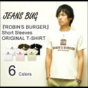 『ROBIN'S BURGER』 JEANSBUG ORIGINAL PRINT S/S Tシャツ オリジナルハンバーガープリント ルート89 アメリカ看板 半袖Tシャツ 【ST-BURGER】