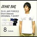 『U.S. AIR FORCE』 JEANSBUG ORIGINAL PRINT S/S Tシャツ オリジナルユーエスエアフォース ミリタリープリント 半袖Tシャツ 【ST-USAF】
