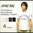 『FOOTBALL』 JEANSBUG ORIGINAL PRINT S/S Tシャツ オリジナルアメカジ フットボールナンバリングプリント 半袖Tシャツ 【ST-FOOT】