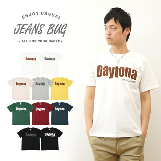 """Daytona"" JEANSBUG ORIGINAL PRINT T-SHIRT オリジナルデイトナ casual printed short sleeve t-shirt"