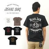 『BLACK JACK』 JEANSBUG ORIGINAL PRINT T-SHIRT オリジナルブラックジャックプリント 半袖Tシャツ カジノ チップ トランプ スペード エー