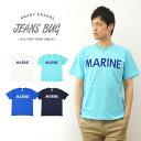 『MARINE Logo』 JEANSBUG ORIGINAL PRINT T-SHIRT オリジナルマリン ミリタリーロゴプリント 半袖Tシャツ アメリカ海兵...