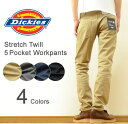 Dickies(ディッキーズ) Stretch Twill 5 Pocket Tapered Workpants ストレッチツイル 5ポケット テーパード ワー...