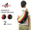 GRAMICCI (グラミチ) CRAZY MEDIUM BAG crazy medium bag cotton material OUTDOOR body bag slant credit bag shoulder bag [GAC-12S008]