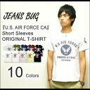 『U.S. AIR FORCE CA』 JEANSBUG ORIGINAL PRINT S/STシャツ オリジナルユーエスエアフォースミリタリープリント 半袖Tシャツ 【ST-CA】