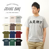 『ARMY』 JEANSBUG ORIGINAL PRINT T-SHIRT オリジナルアーミー ミリタリープリント 半袖Tシャツ アメリカ陸軍 米軍 シンプル 英字 メンズ レデ