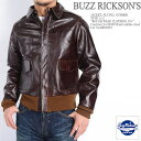 "BUZZ RICKSON'S バズリクソンズ A-2 レザー フライトジャケット ""ROUGH WEAR CLOTHING CO."" BR80253 【土曜もあ..."