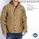"BUZZ RICKSON'S バズリクソンズ N-1 デッキジャケット Type N-1 KHAKI ""NAVAL CLOTHING DEPOT"" DEMOTEX-ED BR12032 【土曜もあす楽対応】【10P03Sep16】"