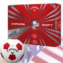 【ゴルフ】【ボール】キャロウェイ 2016 CHROME SOFT TRUVIS (クロムソフト トゥルービス)ボール 1ダース[ホワイト](USA直輸入品)