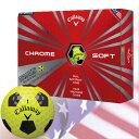 【ゴルフ】【ボール】キャロウェイ 2016 CHROME SOFT TRUVIS (クロムソフト トゥルービス)ボール 1ダース[イエロー](USA直輸入品)