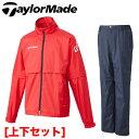 【ゴルフ】【レインウエア】テーラーメイド TaylorMade メンズ レインスーツ 上下セット C...