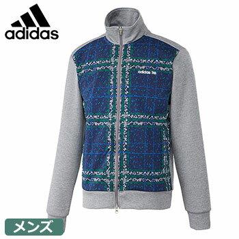 【ゴルフウエア】【スウェット】adidas アディダス 2017春夏 メンズ JP SP ローズチェックプリント L/S フルジップスウエット CCM19 グレー N65844 【15時までで対応! 月~土曜日営業】2017SS adidas MENS jacket メンズ スウェット ジャケット