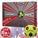 【ゴルフ】【ボール】キャロウェイ Callaway 2017 CHROME SOFT X TRUVIS (クロムソフト エックス トゥルービス)ボール 1ダース [イエロー×ブラック](USA直輸入品)