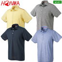本間ゴルフ 2019春夏 メンズ HONMA 肩アクセントカラー半袖シャツ 931-731113 イエロー グレー ネイビー ブルー シャツ 日本正規品