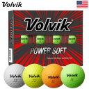 Volvik POWER SOFT ゴルフボール ボルビック パワーソフト 1ダース 12球 USA直輸入品【非常にソフト】